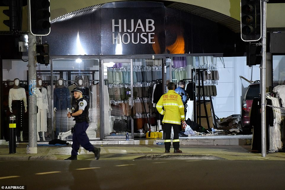 Greenacre crash: police re-arrest driving drive of auto that smashed into hijab store