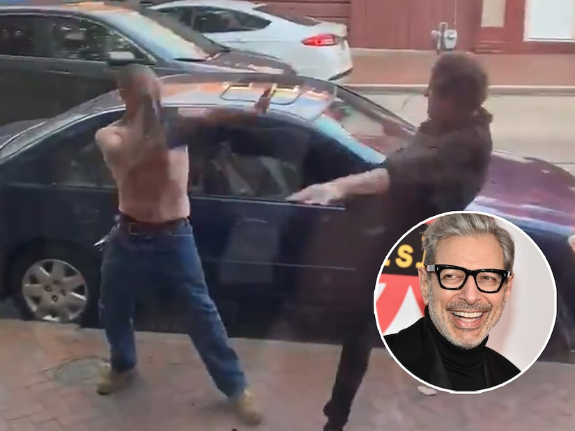 Watch Jeff Goldblum Look-A-Like Roundhouse Kick 'Racist' Dude in Face in Street Fight