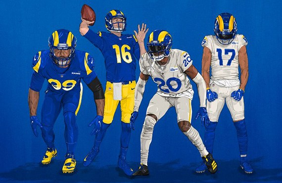 Photos: Right here Are the Los Angeles Rams' Vibrant New Uniforms