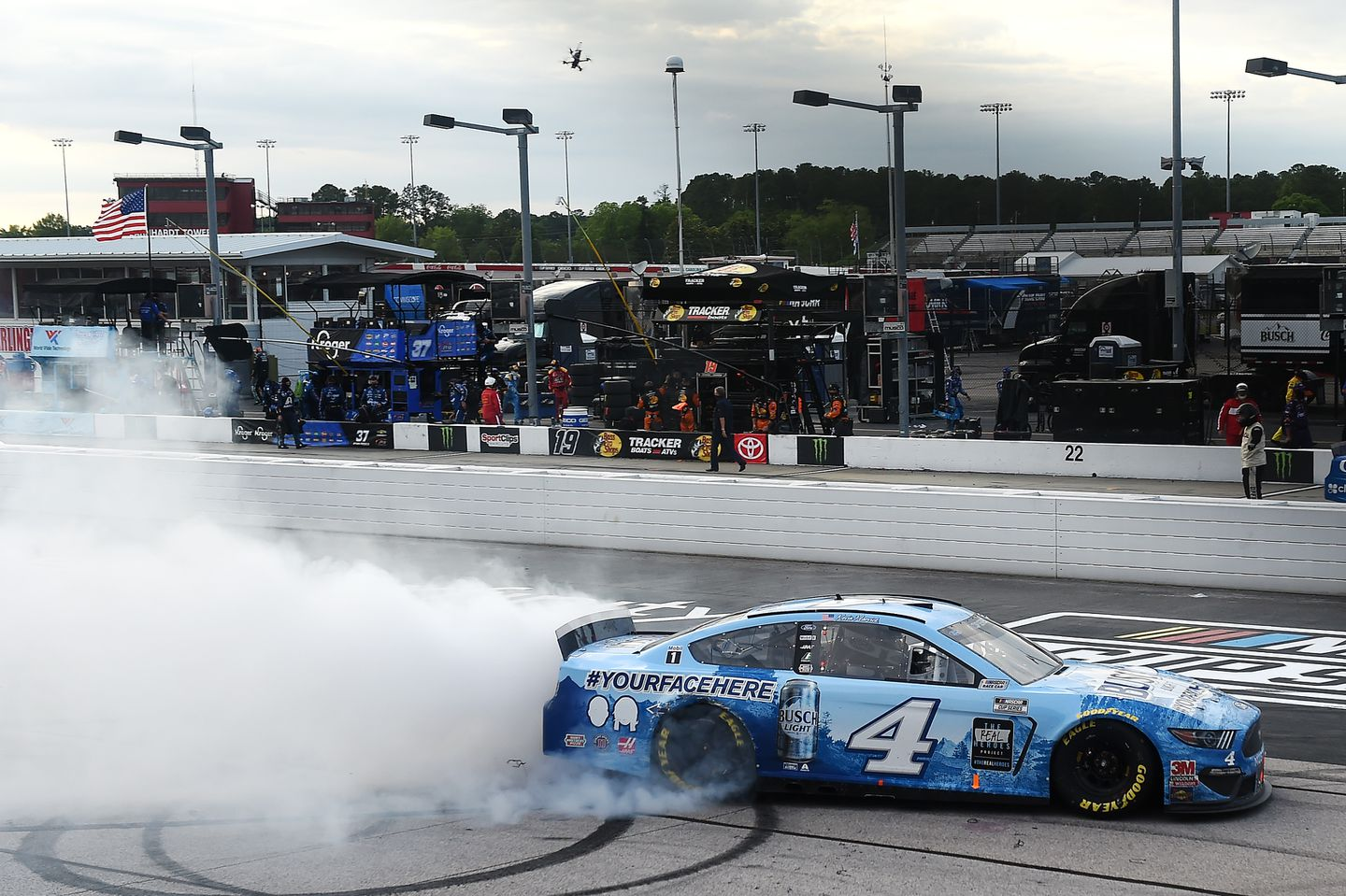 Kevin Harvick Wins As NASCAR Returns With out Followers