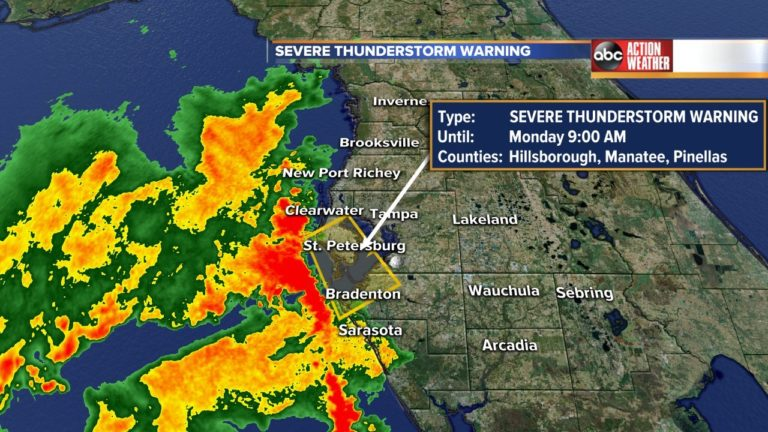 Extreme thunderstorm warning expires for Tampa Bay space counties