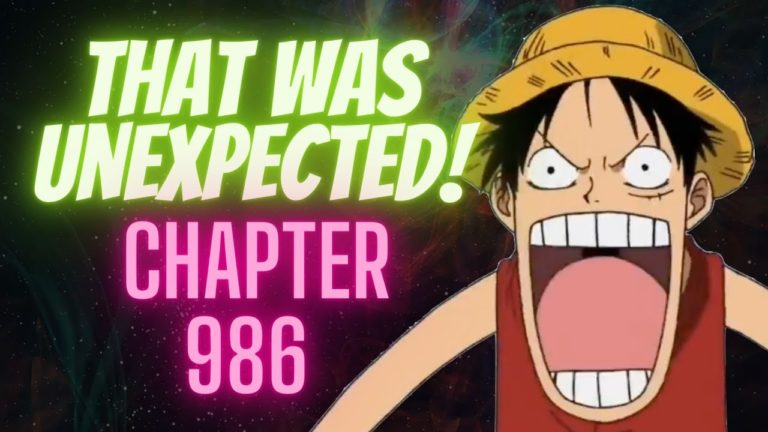 Release date for One Piece Manga Chapter 986 and other major updates.