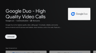 Get Google Duo in Android TV in beta Now.